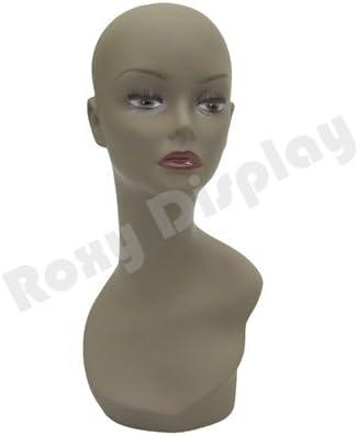 ROXYDISPLAY/™ Realistic African Female Mannequin Head Pretty make-up Jewlery Display. MD-TinaB3