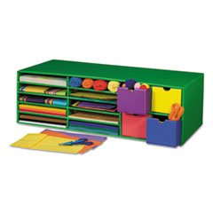-- Classroom Keepers Crafts Keeper Organizer, Green, 14 Sections, 9 3/8x30x12 1/2