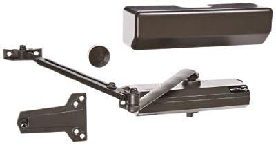 Hager 5300 Series Aluminum Grade 1 Heavy Duty Surface Door Closer, Multi-Mount, 1-6 Adjustable Spring Size, Sprayed Dark Bronze Finish