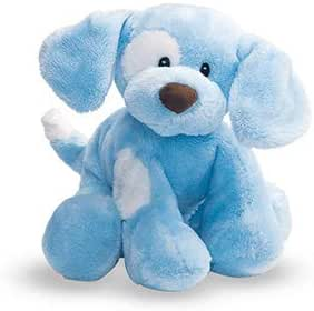 Baby GUND Spunky Dog Stuffed Animal Plush Sound Toy, Blue, 8