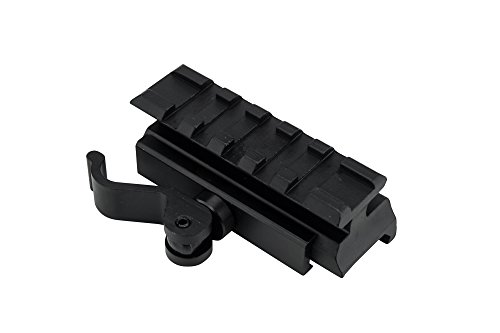 Monstrum Tactical Lockdown Series High Performance Riser Mount | 2.5 inch L / 5 Slot with Quick Release (Medium ()