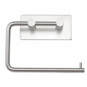 Qiorange 304 Stainless Steel Wall Mount Toilet Roll Paper Holder Bathroom Tissue Holder 3M Self Adhesive low-cost