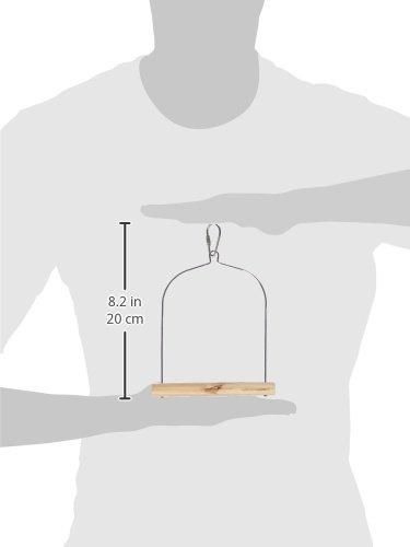 Prevue Hendryx Pet Products BPV387 Natural Wood Birdie Basics Birch/Wire Swing, 3x4-Inch 480627