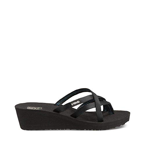 Teva Women's W Mush Mandalyn Wedge Ola 2 Flip-Flop, Black, 10 M ()