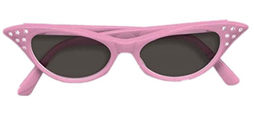 Cateye Rhinestone Tinted Glasses - Retro 50's Sunglasses - (Adult Faery Dress)