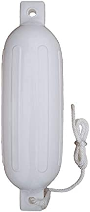 Seamax Heavy Duty Large Boat Fender in White 20''Long and 5.5&q