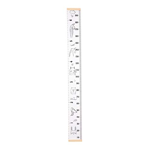 A Yutang Childrens Height Ruler Growth Chart Canvas Wall Hanging Height and Growth Chart for Kids Boys Girls Room Decoration Nursery Removable