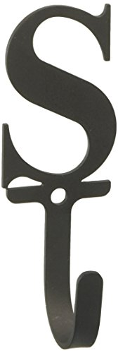 Village Wrought Iron 3.63 Inch Letter S Wall Hook Small