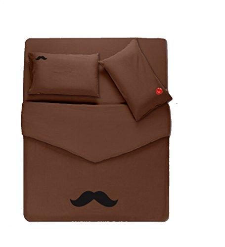 Homesicker Coffee Beard Pattern Pure Cotton Bedding Set,X-Long Twin price