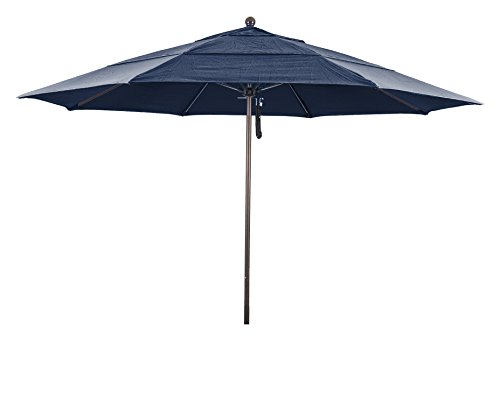 Eclipse Collection 11' Fiberglass Market Umbrella PO DVent (Terra Bronze Outdoor Hanging)