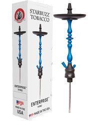 "STARBUZZ ENTERPRISE 28"" HOOKAH STEM SET: This shisha pipe is made in America. These Hookahs are sold only as a stem and tray set. Starbuzz narguile pipes have a 5 year limited warranty (Black/White) by Starbuzz USA Made Hookahs"