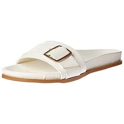 Shoexpress White Slides Slipper For Women