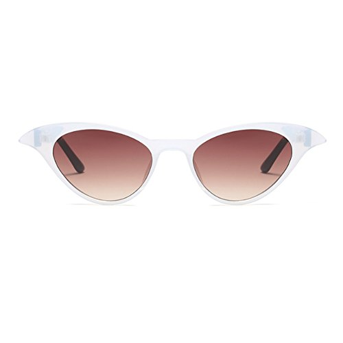 Women sol Blanco Ladies Cat Eye Café Huicai Sexy Degradado de Sunglasses Eyewear Vintage Gafas Small S1dwAwxBq