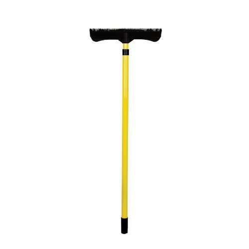 FURemover Broom with Squeegee made from Natural Rubber, Multi-Surface and Pet Hair Removal, Telescoping Handle that Extends from 3 ft to 6 ft