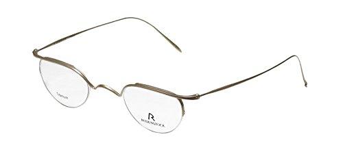 Rodenstock R4222 Mens/Womens Rx-able Ultimate Comfort Designer Half-rim Titanium Eyeglasses/Eyewear (40-25-140, Matte Beige)