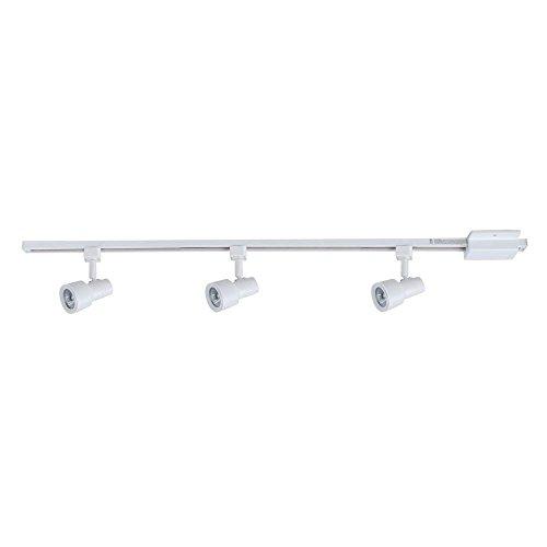 Hampton Bay 3-Light Matte White Mini Step Head Linear Track Lighting Kit ()