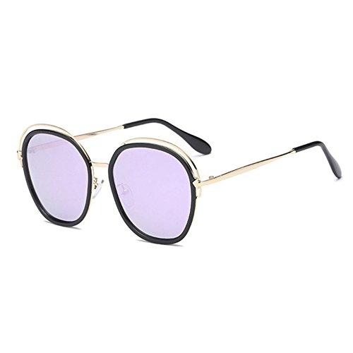 Aoligei Des lunettes de soleil fashion tendance lunettes de soleil métal couleur film réflectif HKgNJ0