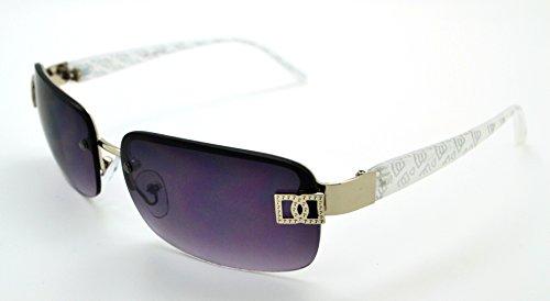 Vox tendance classique haute qualité pour femme Mode Hot Lunettes de soleil W/étui microfibre gratuit White Frame - Smoke Lens