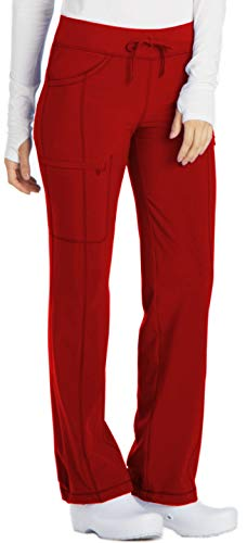 Cherokee Infinity 1123A Low Rise Drawstring Pant Red M