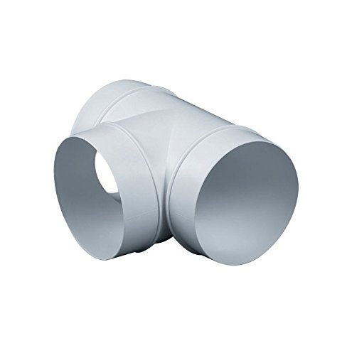 Round Ducting Pipe T Piece 125mm / 5' Extractor Fan Tee Connector 3 Way Adaptor KO125-26 Armar Trading LTD