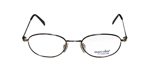 Marcolin 2038 MensWomens Ophthalmic With Hard Case Designer Full-rim Titanium EyeglassesEyewear (51-20-145 Gold  Havana)