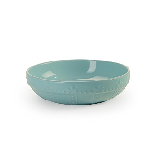 Signature Housewares Sorrento Collection Set of 4 Pasta Bowls, 8-Inch, Aqua ()