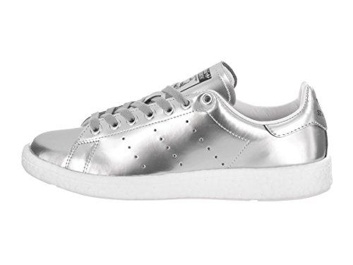 Scarpa Casual Adidas Womens Stan Smith Casual Argento / Argento Metallizzato / Bianco Calzature