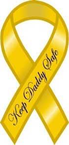 Safe Ribbon Magnet - Keep Daddy Safe Yellow Ribbon Magnet