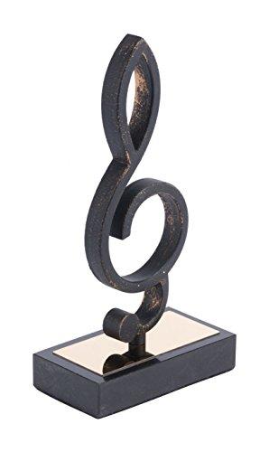 Zuo Treble Clef Figurines, Black