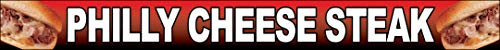 (1x10 Ft Philly Cheesesteak Vinyl Banner Sign rb)