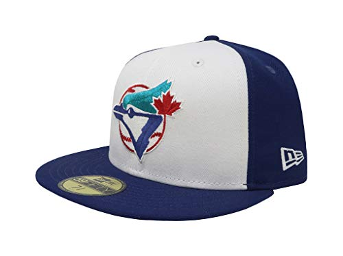 New Era 59Fifty Hat Toronto Blue Jays Cooperstown 1989 Wool Fitted Headwear Cap (7 1/4) (Caps Toronto Blue Jays)