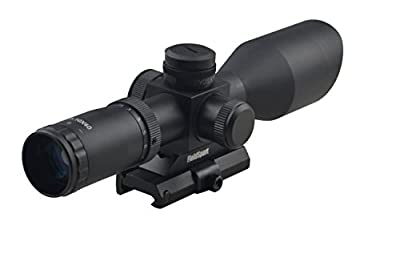 Tactical Compact Rifle Scope 2.5-10X40 with Side R/G/B Illumintation and Quick Detach Mount Integral Sunshade from Sniper