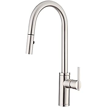 Danze D454058SS Parma Café Single Handle Pull Down Kitchen Faucet With  SnapBack Retraction, Stainless
