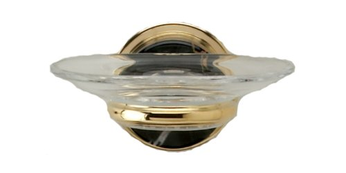 - Phylrich KNC25_24J Satin Jewelers Gold Carrara Black Marble Wall Mounted Soap Dish from the Carrara Collection KNC25