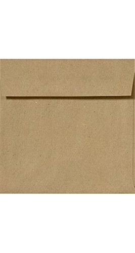 6 1/2 x 6 1/2 Square Envelopes - Grocery Bag (50 Qty) | Perfect for Invitations, Announcements, Greeting Cards, Photos | 8535-GB-50
