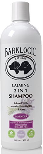 - BarkLogic Calming 2 in 1 Shampoo & Conditioner, Lavender, 16 fl oz - Grooming Essentials For A Healthy Coat - No Parabens, No Phthalates, No Sulfates, No DEA & PEG, Hypoallergenic & Vegan