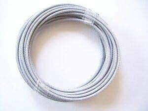 Vinyl Coated Stainless Steel Cable 304 Wire Rope 7x19 Stand Core, Clear, 3/16