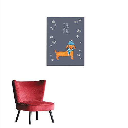 (longbuyer Wallpaper New Year Card Dachshund Mural)