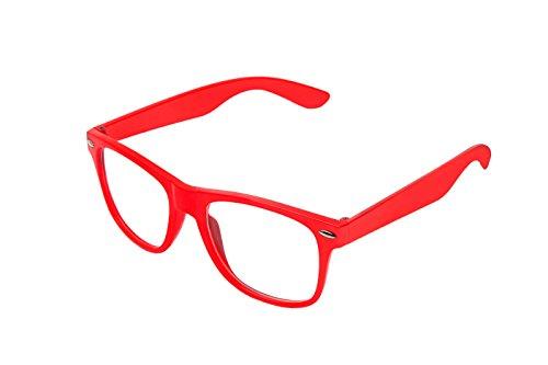 lunettes de Classique au Boolavard style soleil lunettes Rot unisexe de clear retro vintage nerd Klar paire style wIx1TU