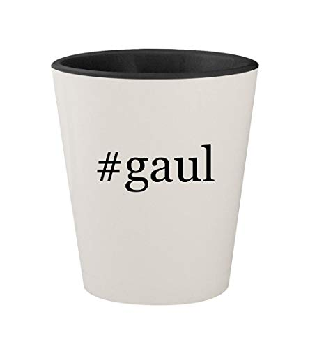 Price comparison product image #gaul - Ceramic Hashtag White Outer & Black Inner 1.5oz Shot Glass