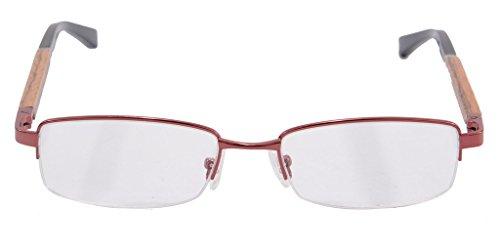 Wood Glasses Frames for Men Clear Lens Eyeglasses Semi-rimless - Glasses Precription