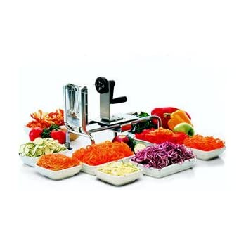 Paderno world cuisine rouet spiral slicer - Paderno world cuisine spiral vegetable slicer ...