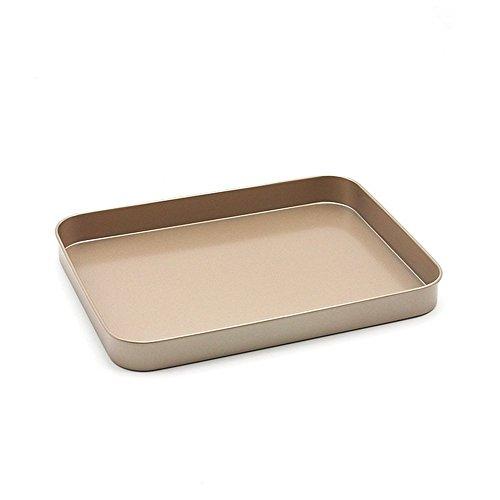 MojiDecor Plätzchen Backblech Plätzchenblech Antihaft Beschichtet 24.8 x 18.8 x 2.4 cm Größe, Backofen- und Herdzubehör Brat- und Backblech in Gold (model 1)