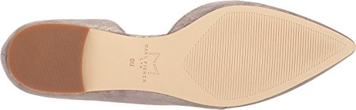 Marc Fisher LTD Women's Sunny4 Pointed Toe Flat Grey Leather NzrcPM