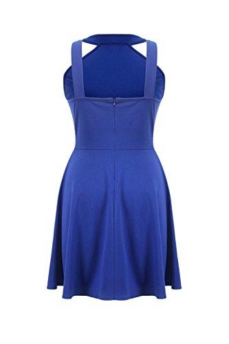 Damen Bikini aushöhlen Swing Partykleid Blue ZE4I2sM8j - yuan.ffw ...
