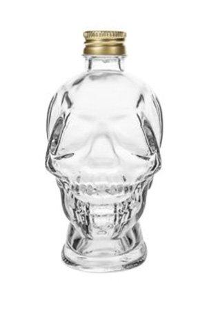 4 botella de licor botella de cristal jarra cristal Cráneo Calavera Diseño para Whisky Ron coñac