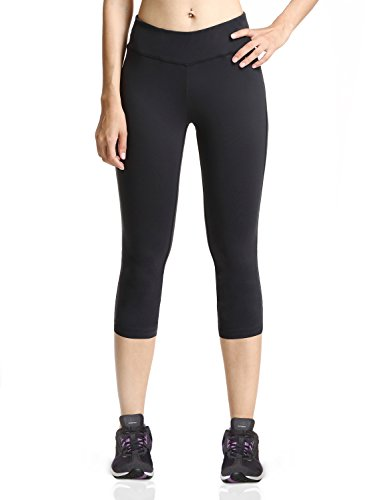 Baleaf Women's Yoga Capri Legging Inner Pocket Non See-through Fabric