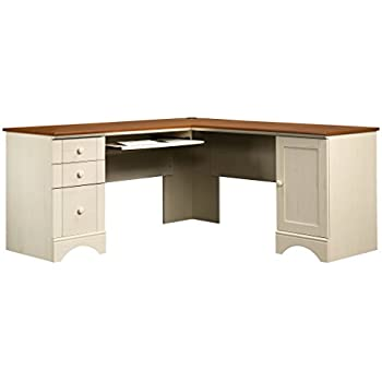 Amazon Com Sauder Harbor View Corner Computer Desk