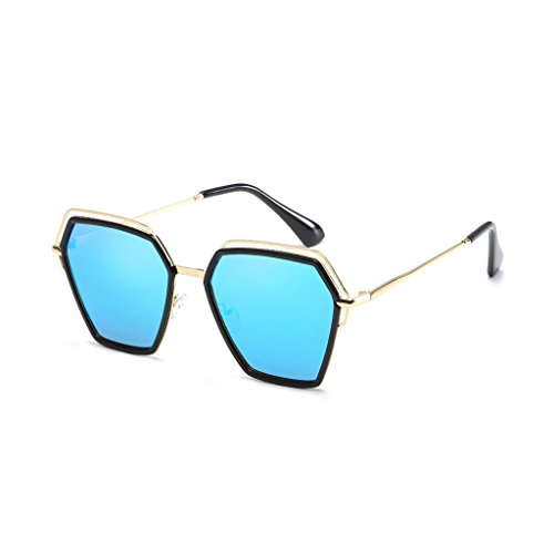 Color Viajes Anti Polarized Polygon Sombra Moda Light de conducción Anti Espejo de Irregular C1 Personalidad C1 Trend vértigo Gafas Sol UV vw4qS4