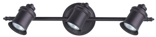 (Canarm IT299A03ORB10 Taylor 3-Bulb Wall Mount Track Light, Oil Rubbed)